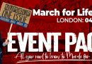 The March for Life, London, 2021